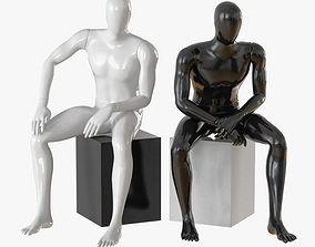 3D Faceless male mannequin 09