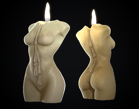 3D asset Body Candle