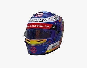 3D asset Grosjean helmet 2020