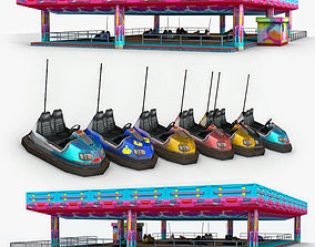 3D asset Auto-Scooter and Bumper Cars