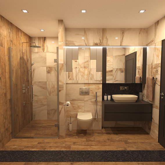Photorealistiv Bathroom Luxor