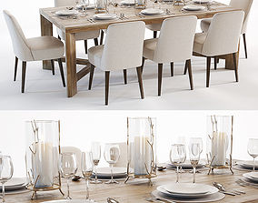 3D model Curations Limited Gernoble and Torino table set