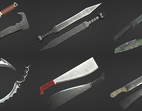 3D model game-ready Machete Collection