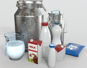kitchen Milk Products Bottles 3D