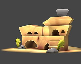 3D model Stylized Cartoon Rock 1