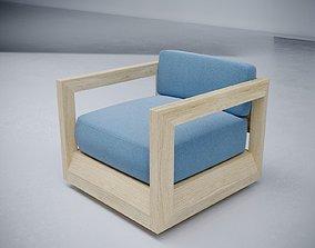 Paloma teak swivel lounge chair 3D arm-chair