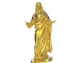 Scanned Jesus Statue 3D print model