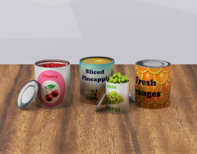 Canned Frozen fruits 3D