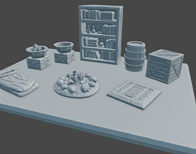 3D printable model Dungeon Clutter for Tabletop Games