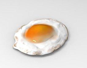 Fried egg beverage 3D