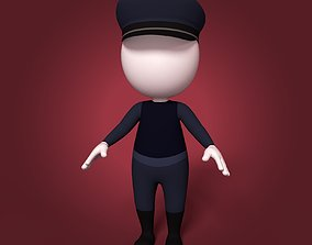 Cartoon Police Man 3D model