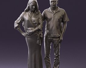 Man in red polo hug womn 0751 3D Print Ready