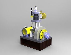 Pressure controlled 2 stroke engine 3D model