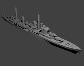 British Perth-Class Crusier sea 3D print model