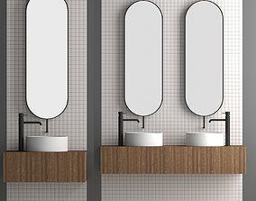 Bathroom set 5 3D model overhead