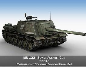 ISU-122 - 3338 - Soviet heavy self-propelled gun 3D