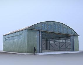 Airport Hangar SmallHangar 01 open 3D model