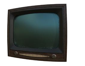 Antique TV 3D model