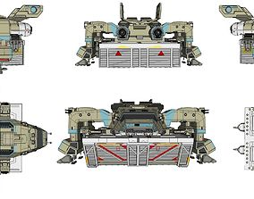 starship troopers dropship 3D model