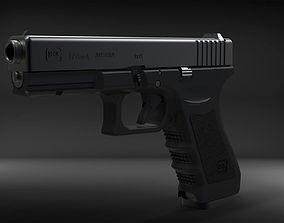Glock 17 3D model VR / AR ready