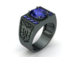 MGold043 Man Ring 3dmodel 3D print ready