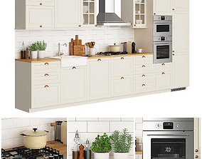 Kitchen Ikea Metod Torhamn 3d Model Cgtrader