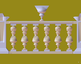 Balustrade Gold Palace Decor Baroque 2 for 3D games