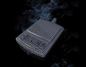 3D print model diamond digital scale hip hop pendant large