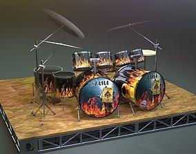 3D drum Drum kit