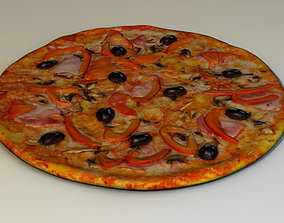 3D model peppers Pizza