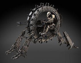 Star Wars Genreal Grievous Wheel Bike 3D model