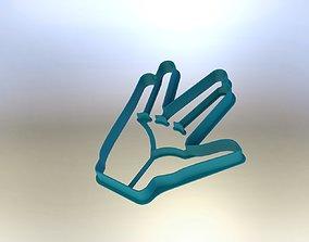 Vulcan salut cookie cutter STAR TREK 3D print model