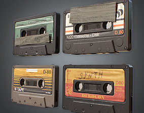 80s - Cassette Tapes low-poly