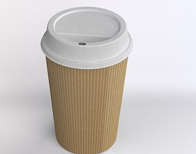 coffee cup 3D model game-ready PBR