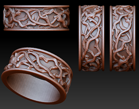 Twig ring 3D printable model