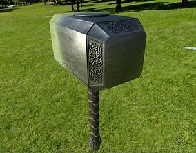 3D model MJOLNIR hammer