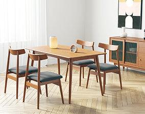 modern dining room 223 3D