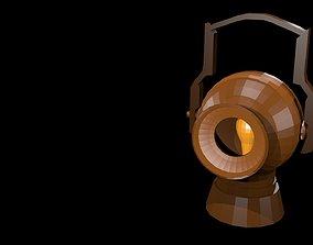 3D asset Low poly retro lamp 1