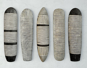 3D model Zulu Elongated Shields 1