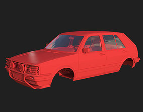 Volkswagen Golf II Country - Body and 3D print model