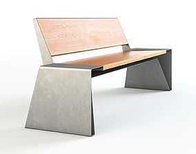 WAX Mmcite Radium Park bench Set 01 3D model