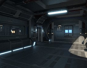 Intrepid spaceship 3D asset
