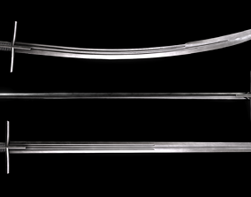 3D asset Hungarian Style Hussar Swords