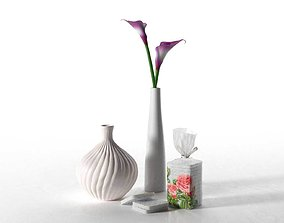 3D Cream Purple Calla Lily Composition tube