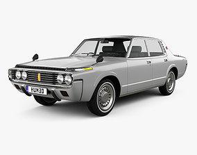 3D model Toyota Crown sedan 1971