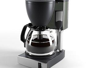 Silver Wave Coffee Maker 3D model