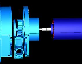 3D print model Cross-Flow Turbine Vertical Full Station