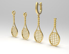 Tennis racket in variations 3D print model