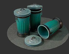 3D asset Stylized Cartoon Trashcan
