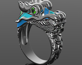 3D printable model Naga Dragon enamel ring